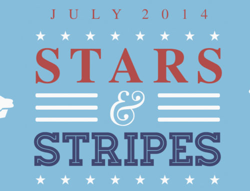 July Ink Drop Reveal: Stars and Stripes