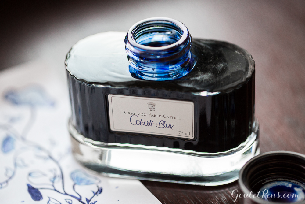 Faber-Castell Cobalt Blue Ink with a Noodler's Tinian Treasure Fountain Pen: Monday Matchup #78