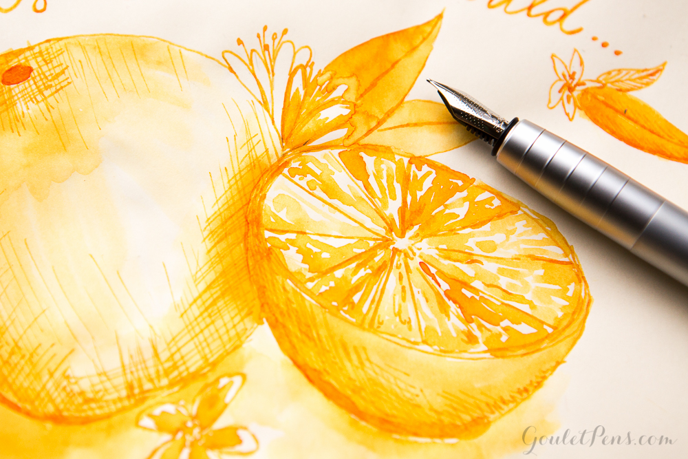 Stipula Sapphron with Faber-Castell Loom Metallic Orange: Monday Matchup #77