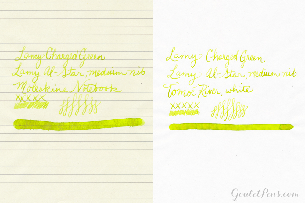 Lamy Charged Green: Ink Review