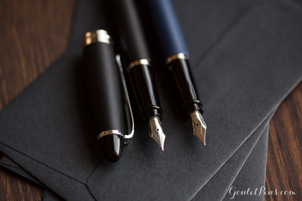 Aurora Ipsilon Fountain Pen now in Satin Blue and Satin Black