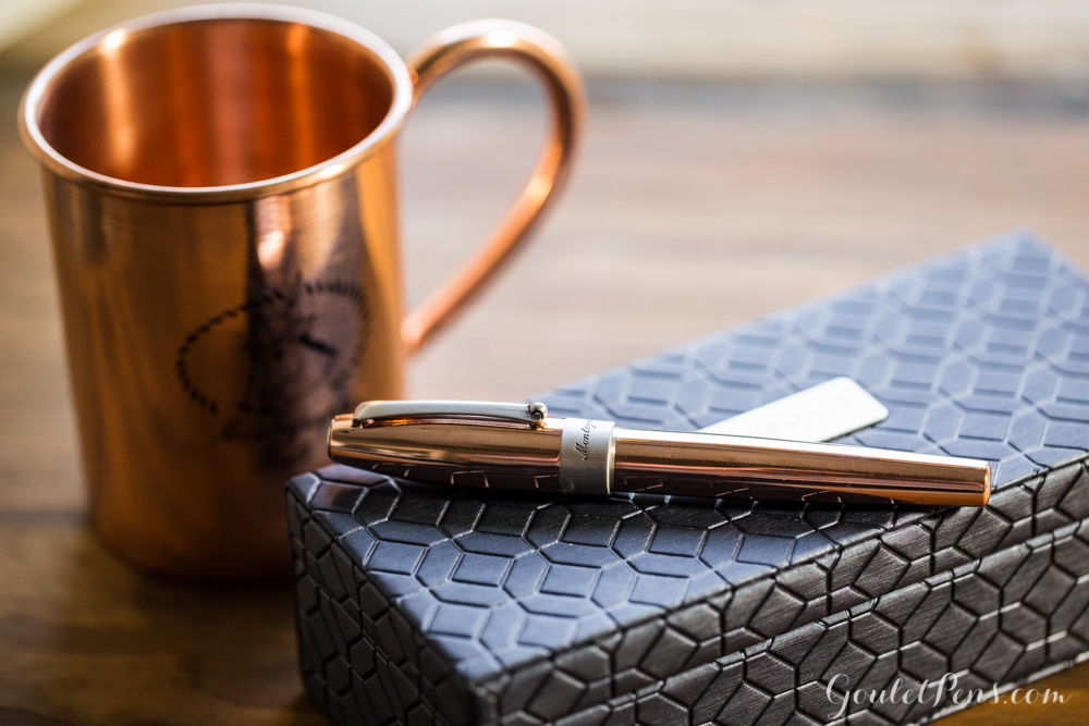Montegrappa Copper Mule Fountain Pen with Copper Mug