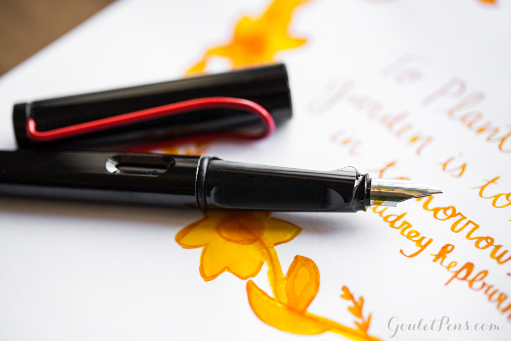 Noodler's Apache Sunset with Lamy Joy 1.1 nib