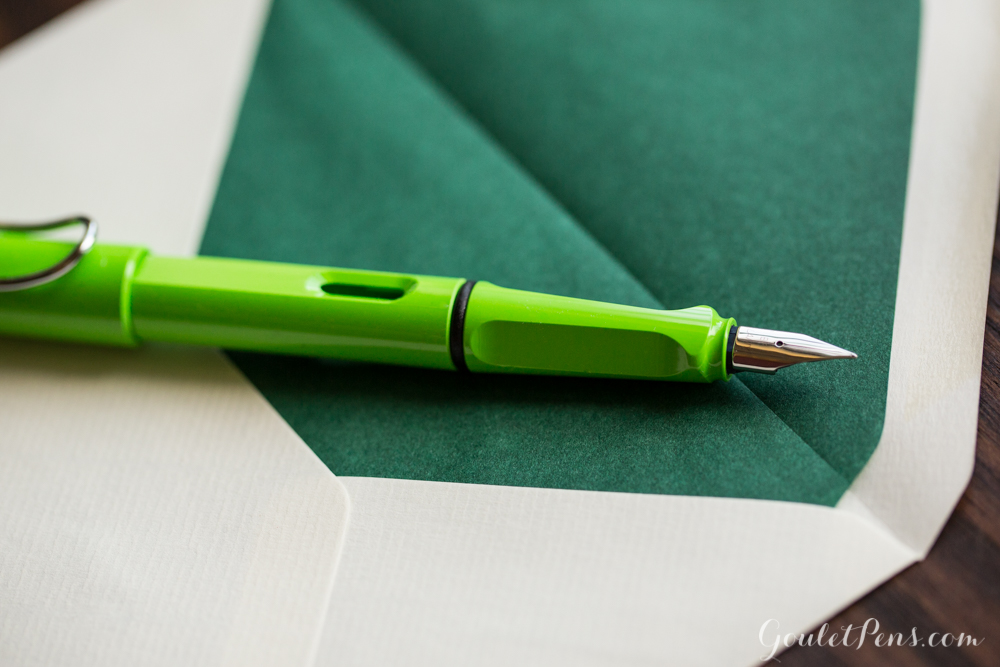 Lamy Safari Green with Original Crown Mill Green/Cream stationery