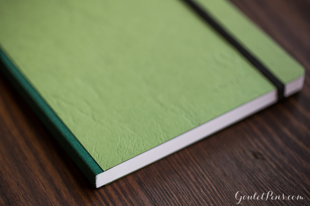 Green Clairefontaine A5 Clothbound notebook