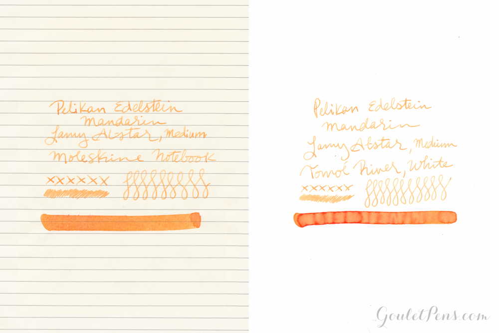 Ink Review Pelikan Edelstein Mandarin using a Lamy Al-Star.