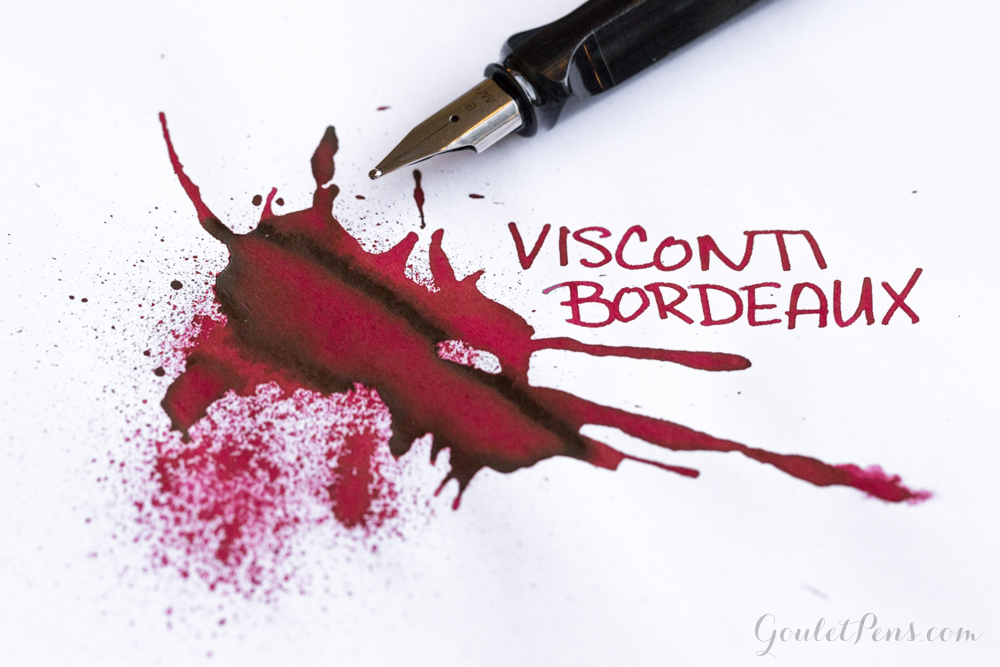 Ink review of Visconti Bordeaux ink using a Lamy Al-Star fountain pen.