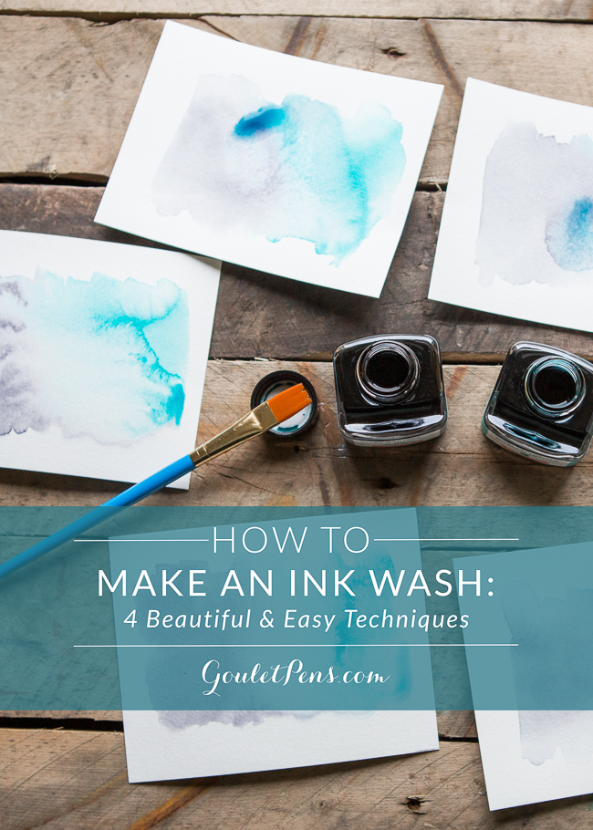how to make an ink wash goulet pens blog