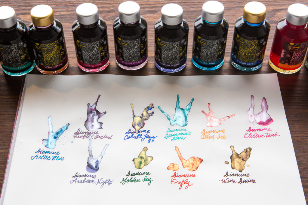 Diamine Shimmertastic Ink Collection