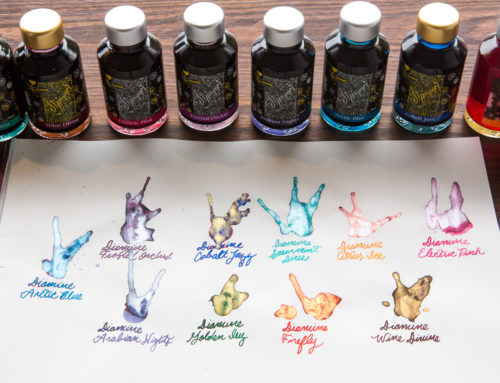 Say Hello to 10 New Diamine Shimmertastic inks!