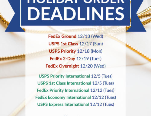 2017 Holiday Order Deadlines