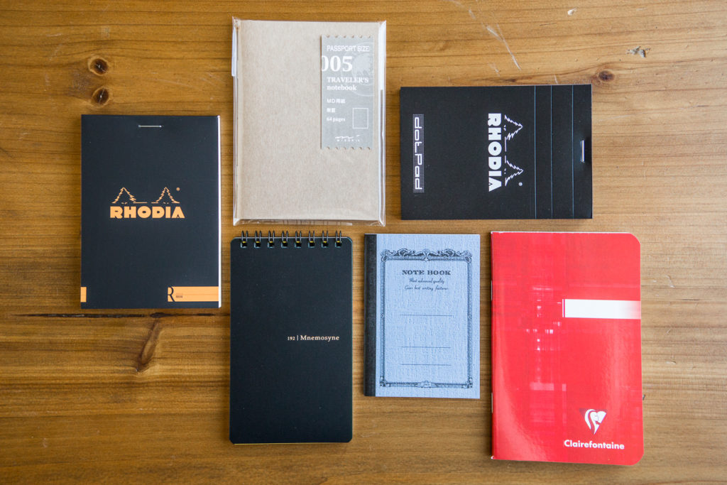 Notebook Sampler Set featuring different types of fountain pen friendly paper.
