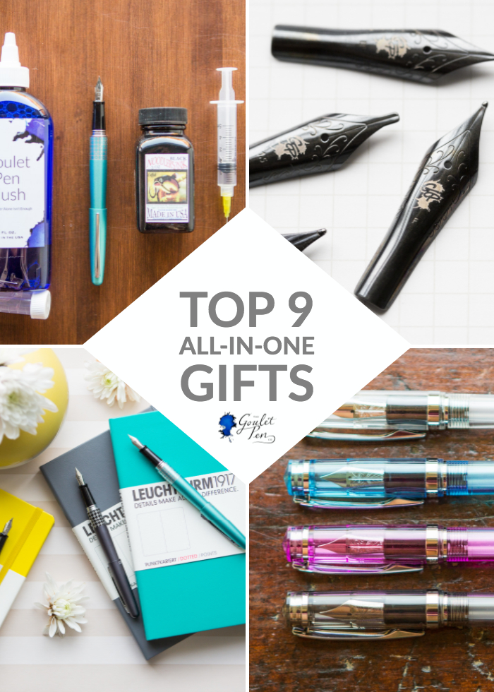 Top 9 All-in-One fountain pen and ink gifts for the writing enthusiast.