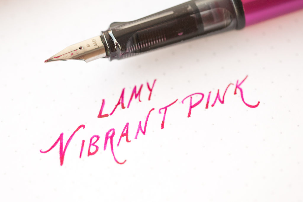 2018 Special Edition LAMY VIBRANTPINK fountain pen ink.