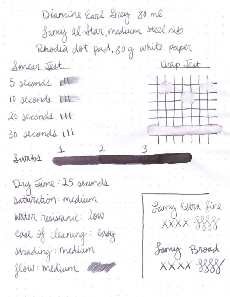 Review of Diamine Earl Grey Ink