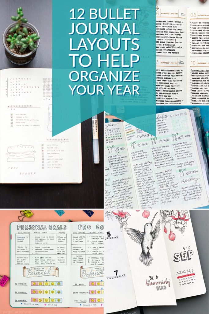 12 bullet journal layouts to help organize your year.
