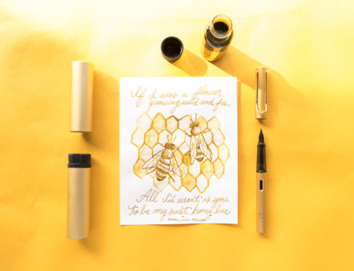 Robert Oster African Gold with a LAMY LX Gold: Monday Matchup Giveaway #170