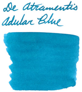 Swab of De Atramentis Adular Blue ink