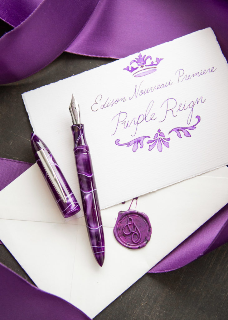 Purple Reign Edison Nouveau Premiere Spring 2018 Fountain Pen