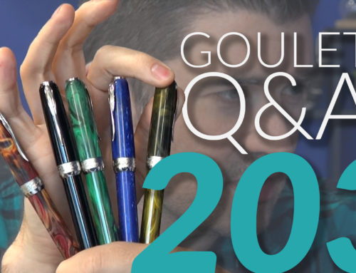 Goulet Q&A Episode 203: Pens for Meetings, Interesting Nibs, and Textured Paper
