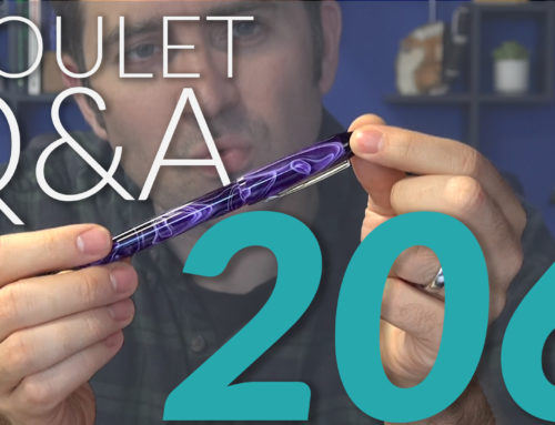 Goulet Q&A Episode 206: Impressive Looking Pens, Stone Paper, and Fountain Pen Jokes!