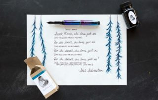 An quote by Shel Silverstein made using a Montegrappa Blazer fountain pen and Organics Studio Ernest Hemingway ink