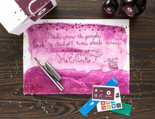 Colorverse Andromeda ink with a Faber-Castell Loom Fountain Pen: Monday Matchup #180