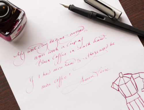 J. Herbin Rouge Opera and a LAMY Joy with a 1.1mm Stub: Monday Matchup #176