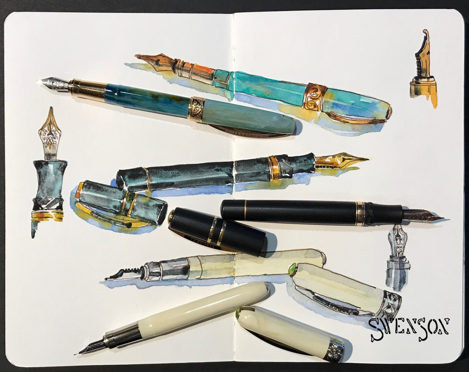 12 Artists and How They Use Fountain Pens - Goulet Pens Blog