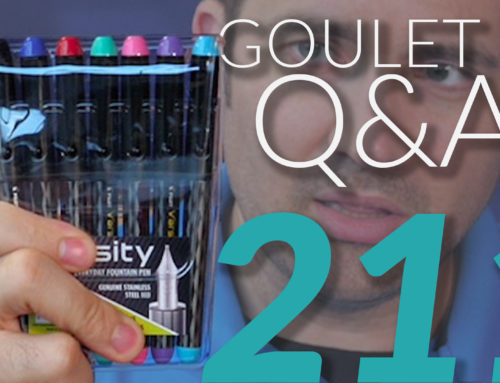 Goulet Q&A Episode 211: A Dozen Rapid-Fire Pen Questions!
