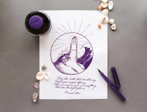 LAMY Safari Dark Lilac and LAMY Dark Lilac ink: Monday Matchup #185