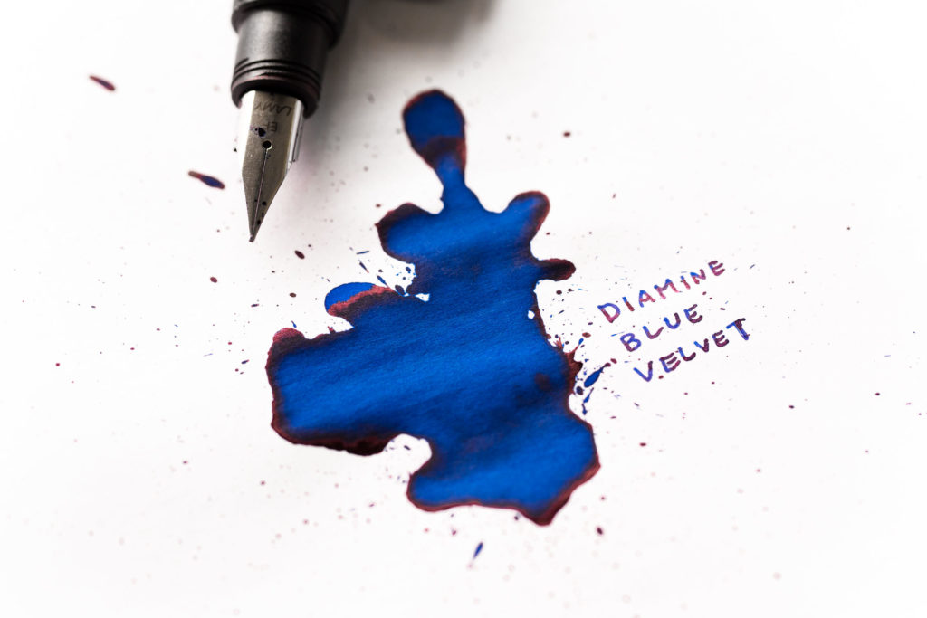 An illustration of Ray Lamontagne lyrics made with Diamine Blue Velvet ink and a Lamy Accent fountain pen.