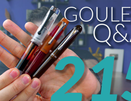 Goulet Q&A Episode 215: Highlighting Over Ink, Work/Marriage Balance, and Surprising Pen Materials!