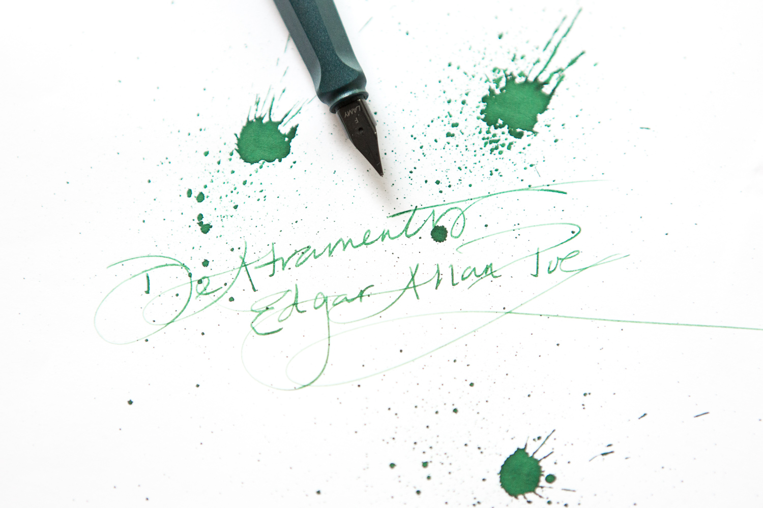 Edgar Allan Poe fountain pen ink.