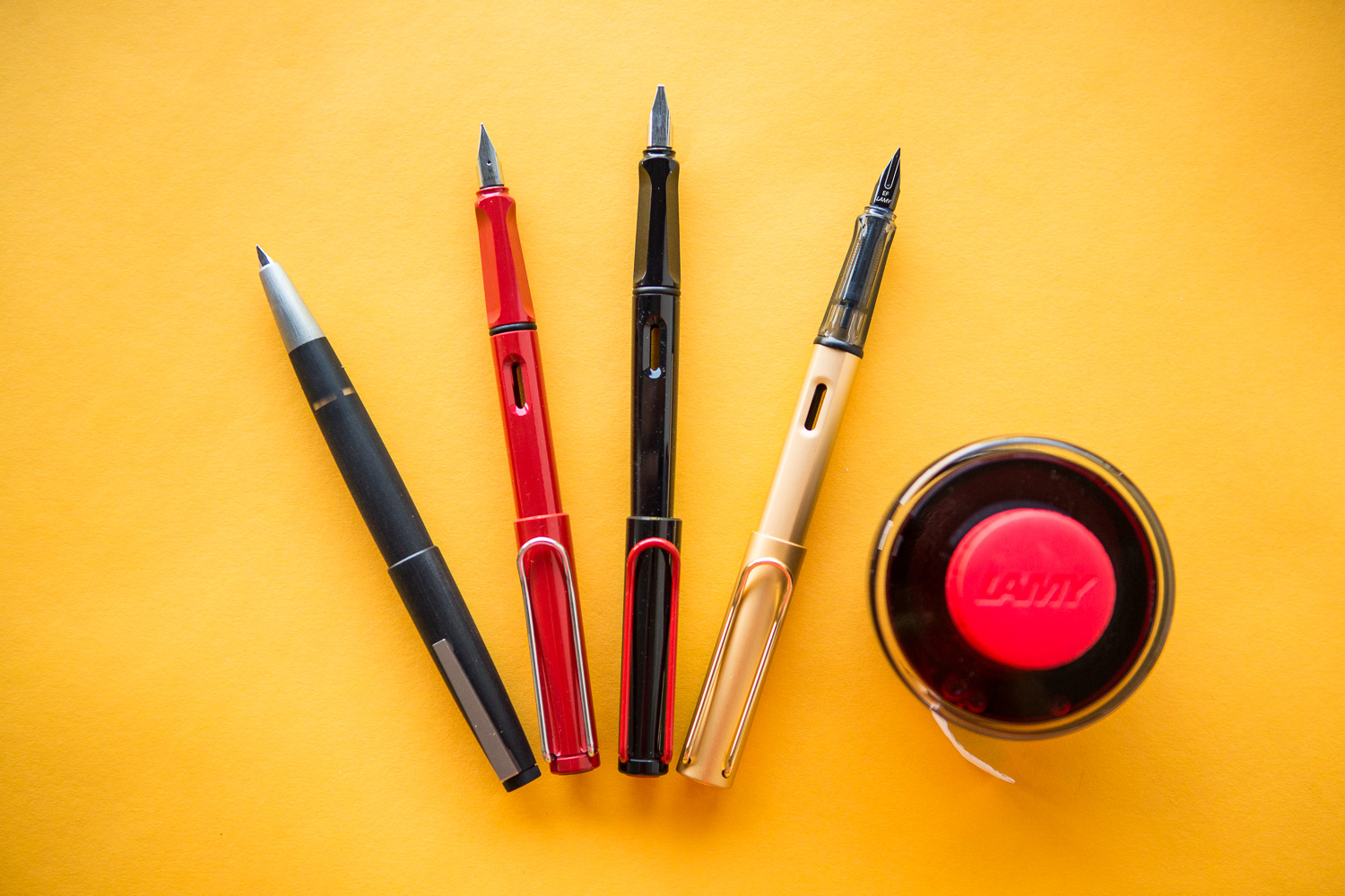 Round up of brands with German made fountain pens, ink, and notebooks.