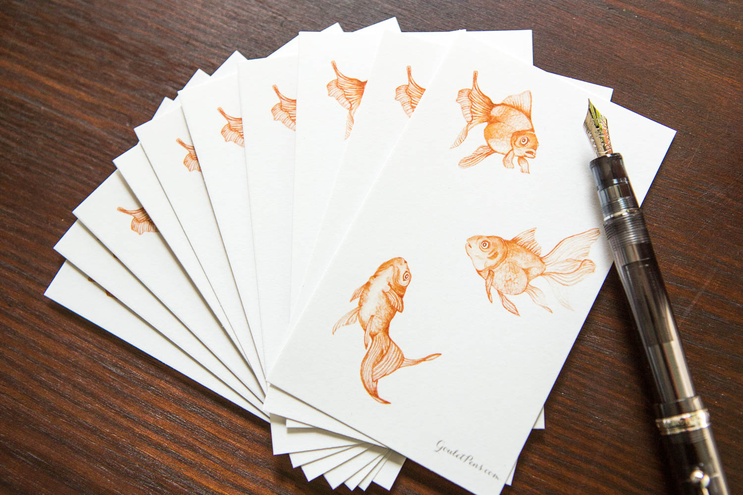 Goulet Note Cards - Goldfish