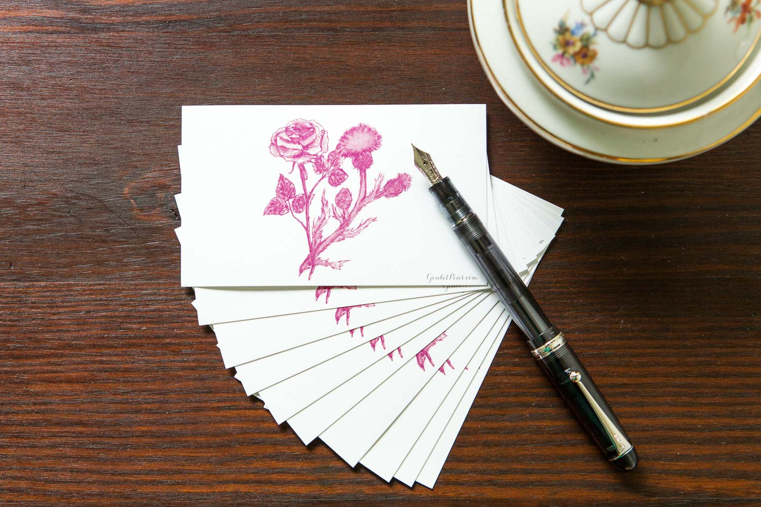 Goulet Note Cards - Pink Flowers