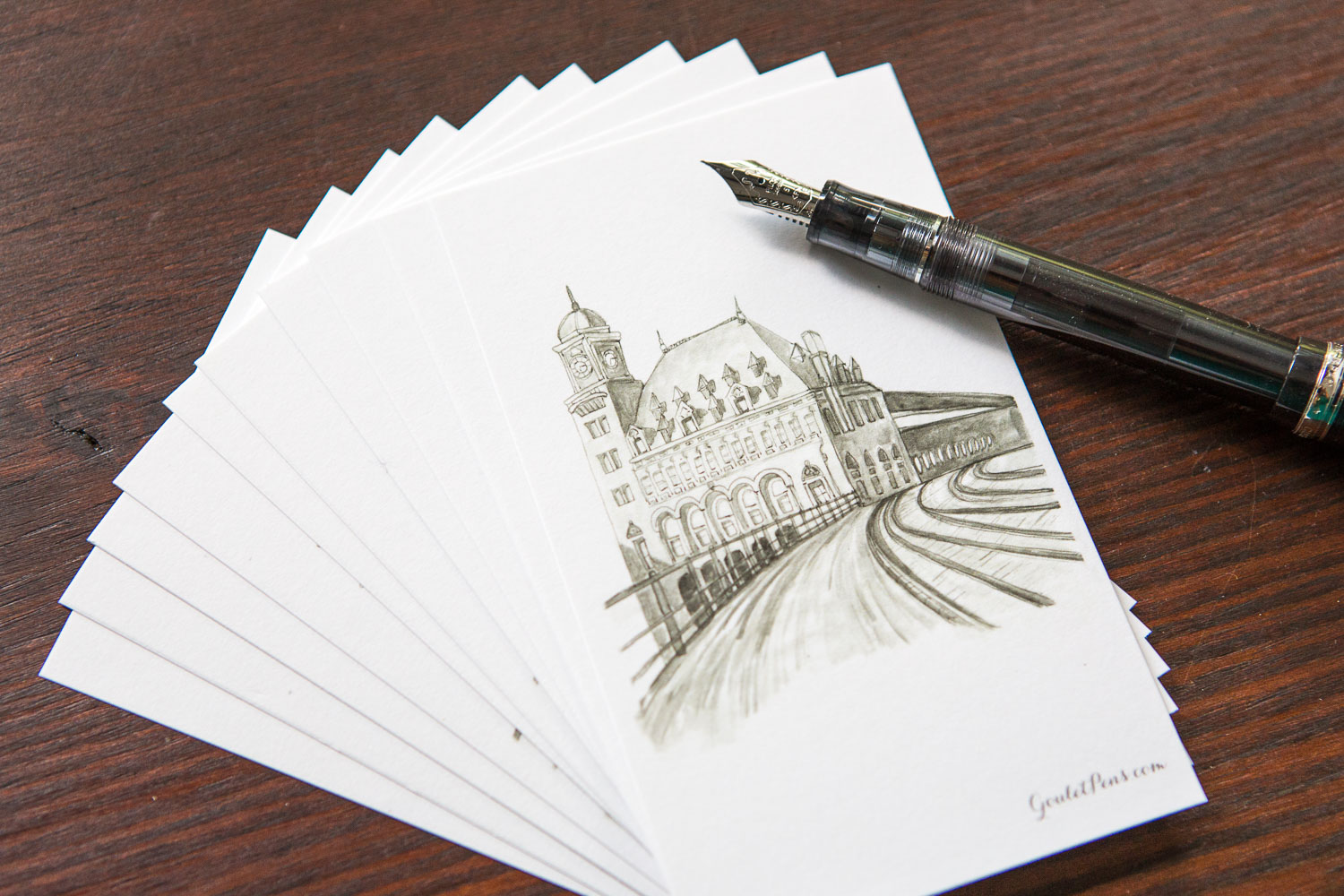 Goulet Note Cards - Train Station