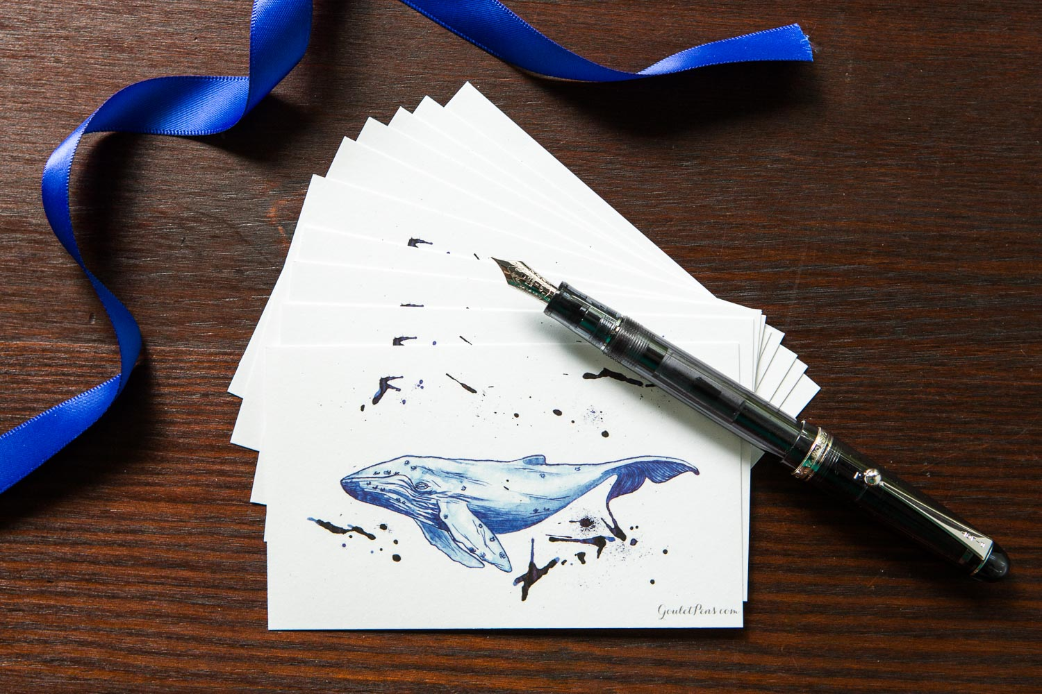 Goulet Note Cards - Whale