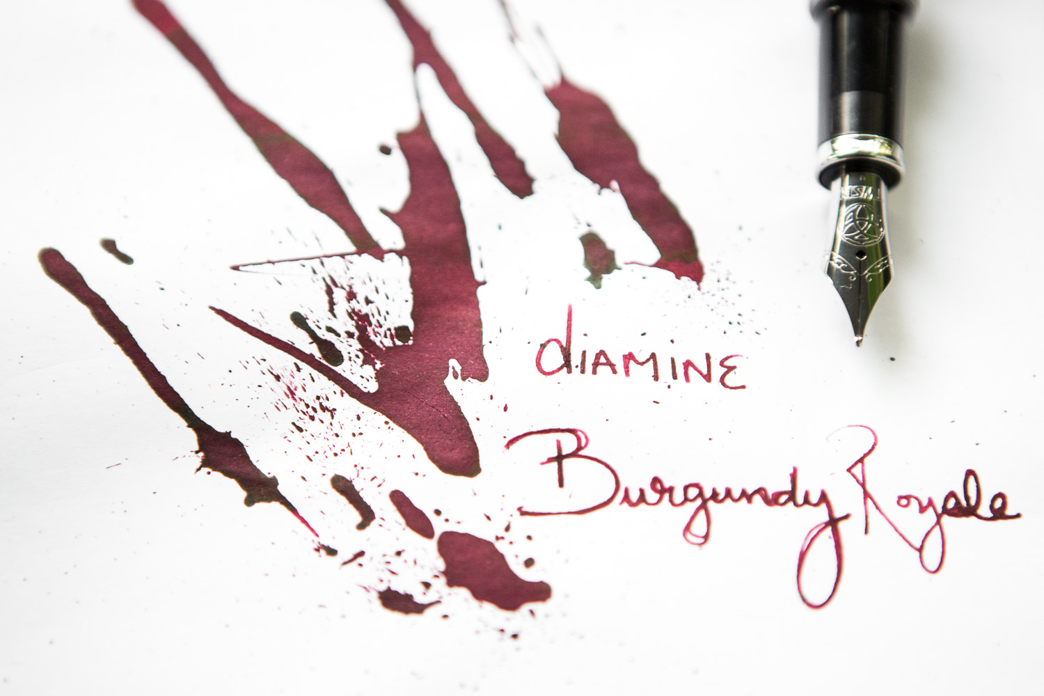 Summer drawings done with a TWSBI Vac700R fountain pen and Diamine Burgundy Royale ink.