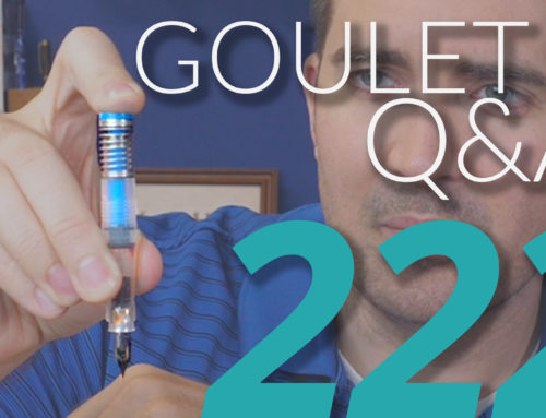 Goulet Q&A Episode 222: Bladder Pens, and Recognizing Fountain Pen Friendly Paper