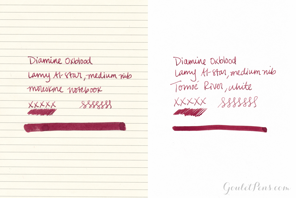 Diamine Oxblood fountain pen ink review