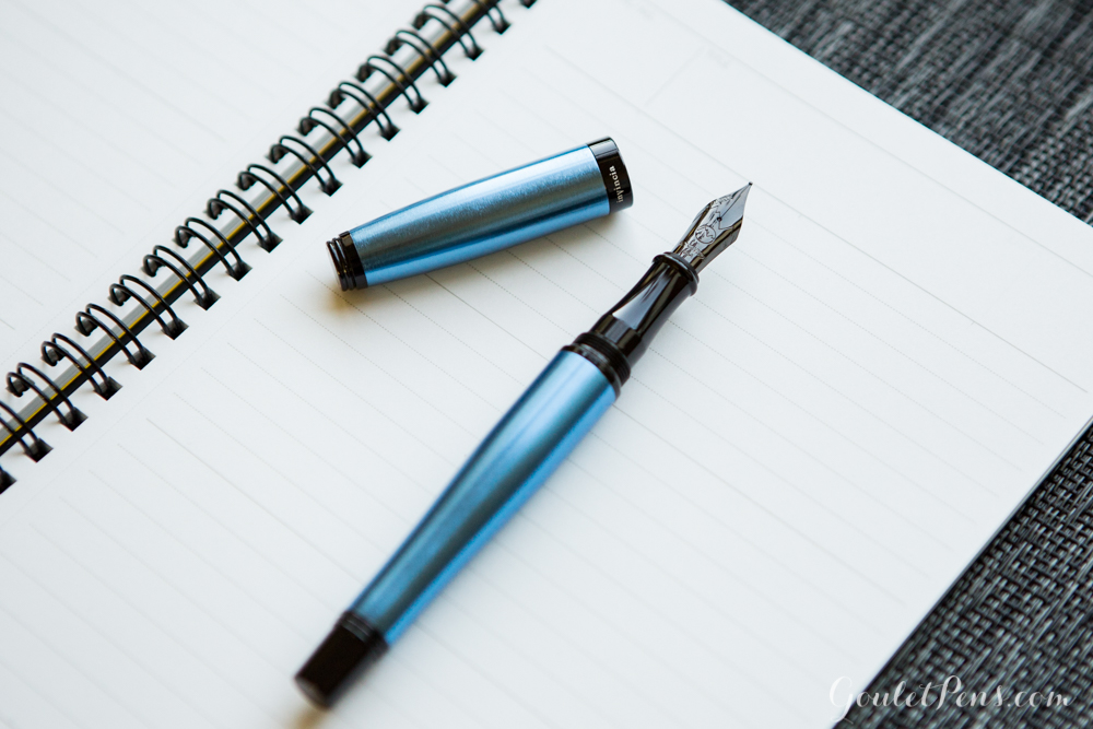 blue aluminum fountain pen