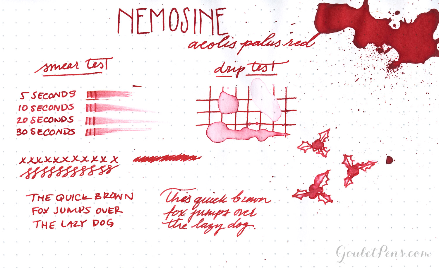 Nemosine Ink - Aeolis Palus Red