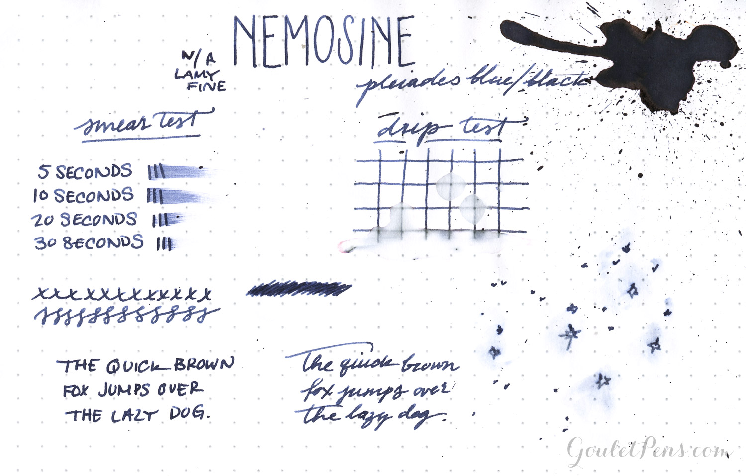 Nemosine Ink - Pleiades Blue/Black