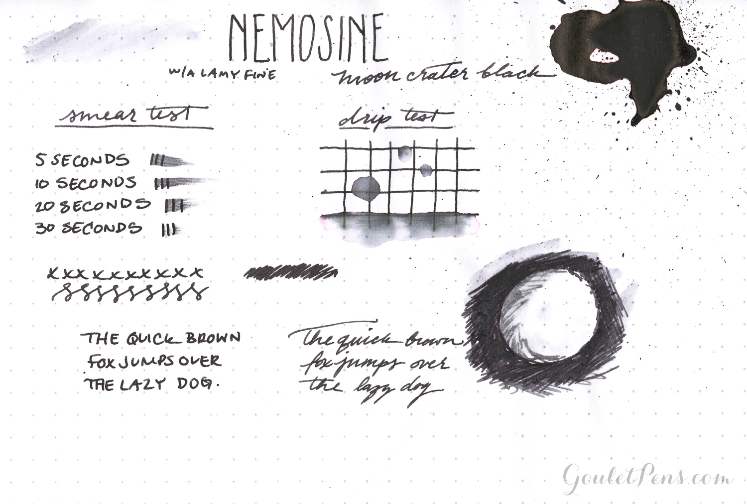 Nemosine Ink - Moon Crater Black