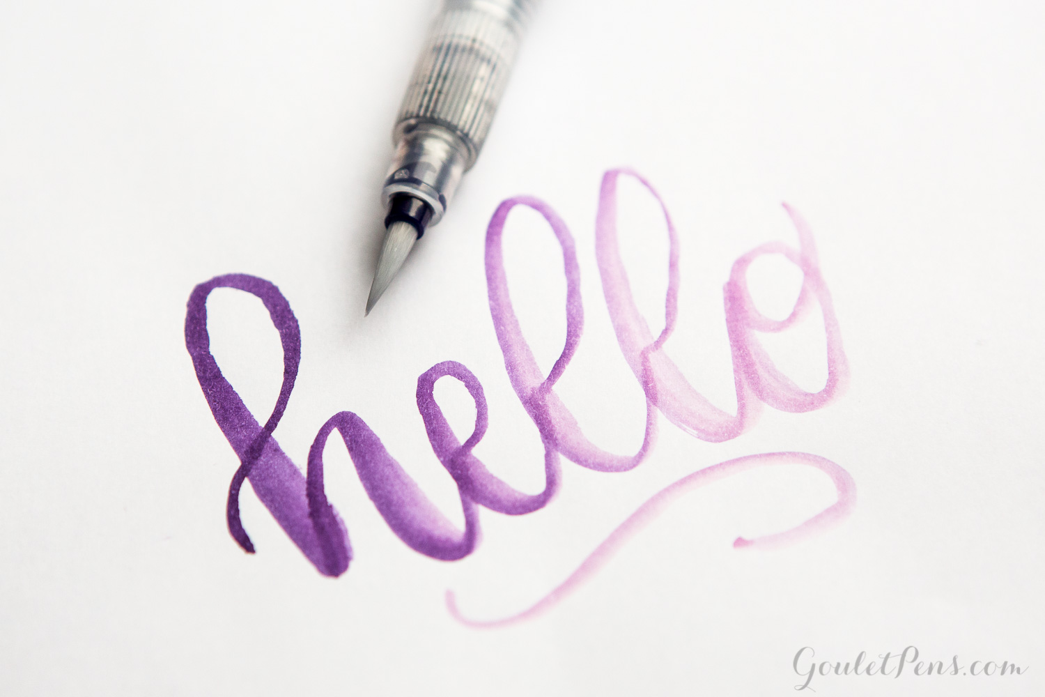 Gradient hand lettering with a Caran d'Ache Waterbrush Pen.
