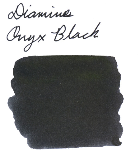 Swab of Diamine Onyx Black Fountain Pen Ink