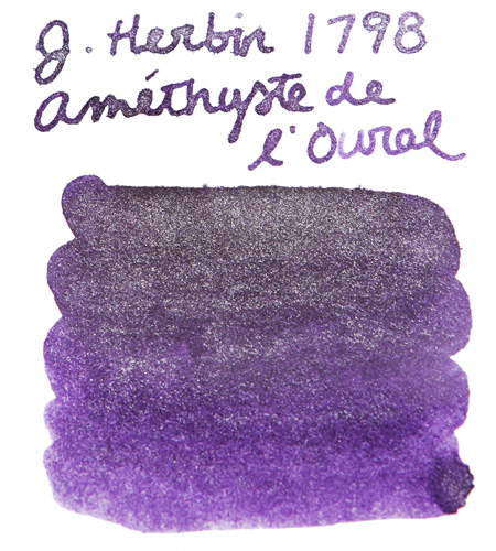 Swab of J. Herbin Amethyste de l'Oural fountain pen ink