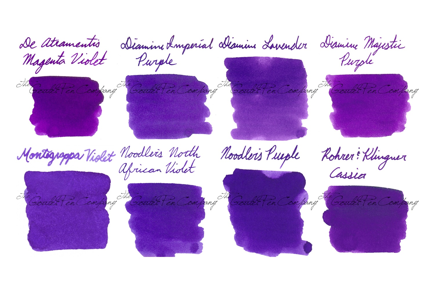 Swab of the Bold Purple Ink Sample Package set